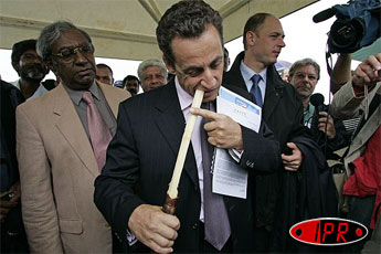 nicolas sarkozy la r union fin de visite imaz press