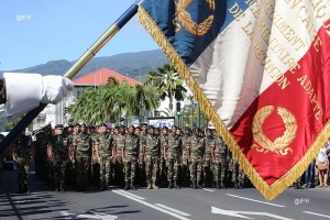 Illustration : Le RSMA de La Réunion change de colonel