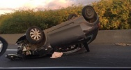 Illustration : Accident de voiture a? Saint-Paul (Photo Ryan Mira Moutoussamy? Radar 974)