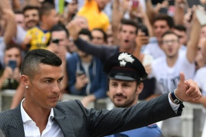 Illustration : Juventus: les supporters acclament Ronaldo et attendent la Ligue des champions