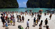 Illustration : La plage de Maya Bay en Thaïlande