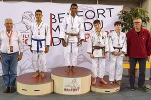 Illustration : Le Portois Clarence Mauree remporte l'or au tournoi de judo de Belfort