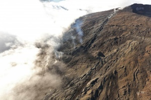 Illustration : Piton de la Fournaise : fin de l'alerte, passage en phase de sauvegarde