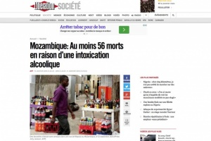 Illustration : Mozambique : 56 morts en raison d'une intoxication alcoolique
