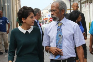 Illustration : Najat Vallaud-Belkacem rencontre Jean-Yves Langenier au Port