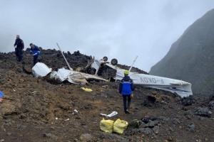 Illustration : Crash d'un avion de tourisme près du volcan : 2 morts, 2 blessés