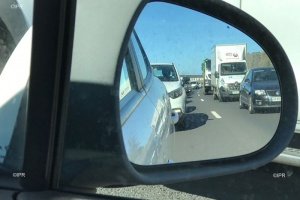 Illustration : Accident sur la route du littoral : plus que 3 km d'embouteillages