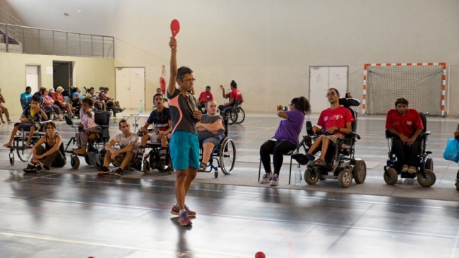 Handisport: fifth Boccia Problem by groups: a contest to face