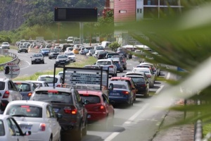 Illustration : Gros embouteillage entre La Possession et Saint-Denis