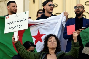 Illustration : A Tunis aussi, on manifeste contre le 5e mandat de Bouteflika