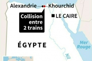 Illustration : Collision de trains : au moins 18 morts, selon la TV d'Etat