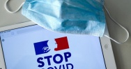 Illustration : L'application StopCovid, en France, mise en place le 2 juin 2020