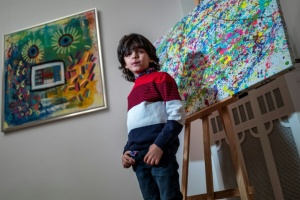 "Illustration : A 7 ans, le ""mini Picasso"" allemand agite le monde de l'art"