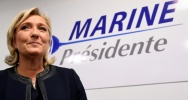 Illustration : La présidente du FN, Marine Le Pen, le 16 novembre 2016 à Paris