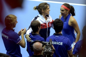 Illustration : Tennis: Amélie Mauresmo, enceinte, quitte son poste de capitaine de Fed Cup