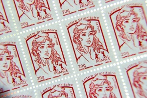 Illustration : Du football sur les timbres de la Poste