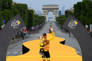 "Illustration : Tour de France: Froome salué en ""maître du temps"""