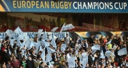 Illustration : Des supporters du Racing 92 avant la demi-finale de Coupe d'Europe 1998 contre les Leicester Tigers à Nottinghamshire, en Angleterre, le 24 avril 2016