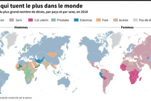 "Illustration : Le cancer, un fléau en progression ""alarmante"" dans le monde"