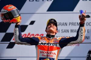Illustration : Marquez remporte le GP de Saint-Marin, Quartararo 2e