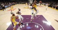 Illustration : LeBron James lors d'un match des Lakers contre la Nouvelle-Orléans, le 25 février 2020 à Los Angeles