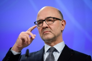 Illustration : Pierre Moscovici demande à l'Italie du respect pour la Commission