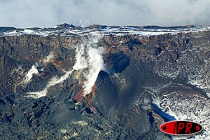 Illustration : Le volcan sous la glace