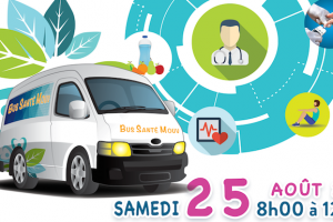 Illustration : Le Bus Santé Mouv au Case de Barrage